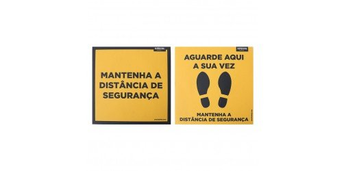 Floor Sign Wait Time + Keep Distance 200x200 (3 + 2 units) - PECOL