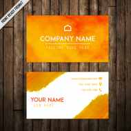 Horizontal Format Business Card - 85 x 55 mm